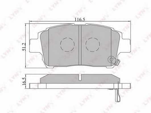Колодки тормозные дисковые передний для TOYOTA ASCENT, CELICA, COROLLA, MR, PRIUS, YARIS <b>LYNXauto BD-7526</b> - изображение