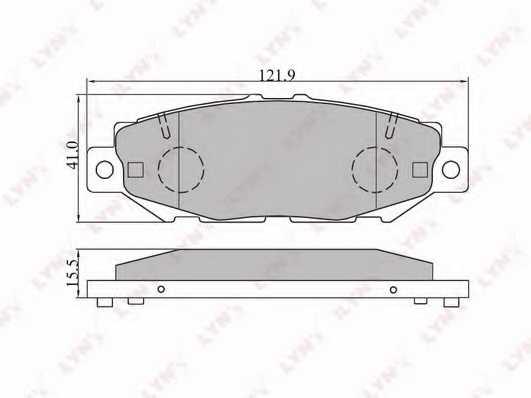 Колодки тормозные дисковые задний для LEXUS GS / TOYOTA ARISTO, CHASER, CRESTA, CROWN, GRANVIA, HIACE, MARK, SUPRA <b>LYNXauto BD-7528</b> - изображение
