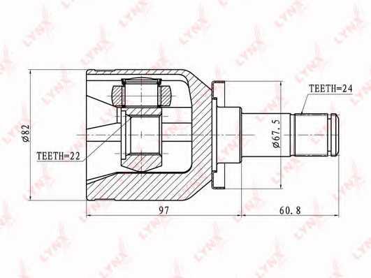 Шарнирный комплект приводного вала LYNXauto CI-4601 - изображение