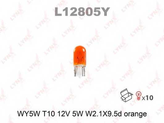 Лампа накаливания WY5W 12В 5Вт W2,1x9,5d ORANGE LYNXauto L12805Y - изображение