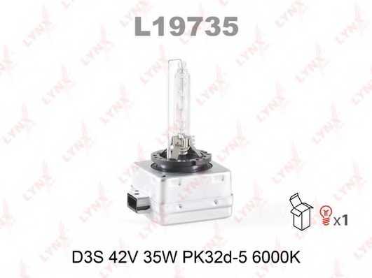 Лампа газоразрядная(ксеноновая) D3S 42В 35Вт LYNXauto L19735 - изображение
