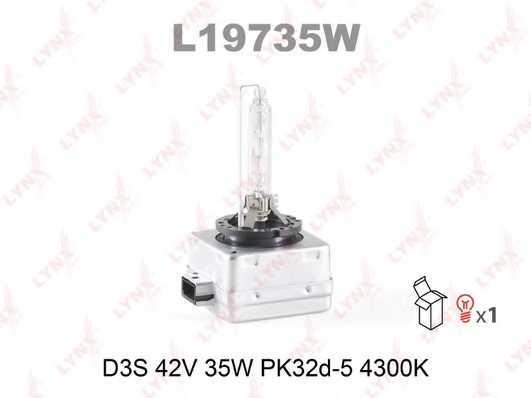 Лампа газоразрядная(ксеноновая) D3S 42В 35Вт LYNXauto L19735W - изображение