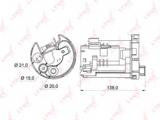 Фильтр топливный LYNXauto LF-162M - изображение