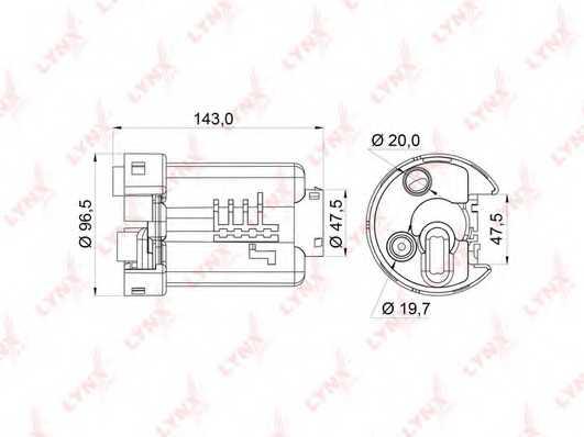 Фильтр топливный LYNXauto LF-164M - изображение