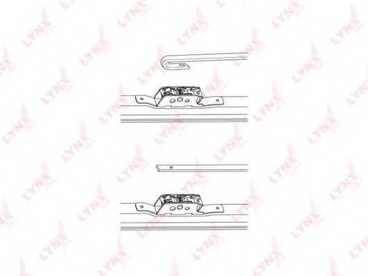 Щетка стеклоочистителя зимняя LYNXauto LW700 - изображение