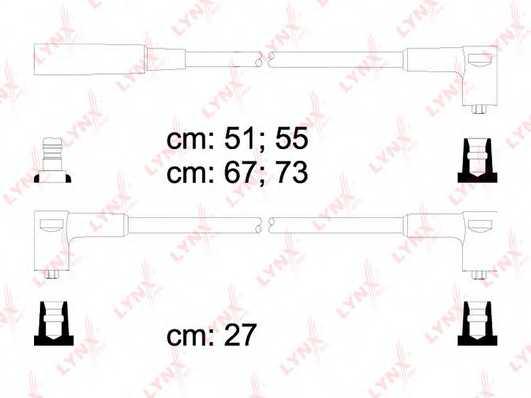 Комплект проводов зажигания LYNXauto SPE4609 - изображение