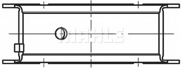 Подшипник коленвала MAHLE ORIGINAL 001 HS 10768 000 - изображение 1