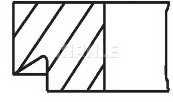 Комплект поршневых колец MAHLE ORIGINAL 00415N0 - изображение