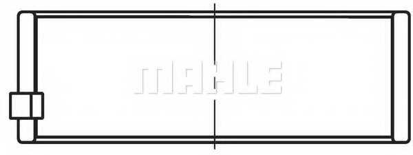 Подшипник коленвала MAHLE ORIGINAL 007 HS 18019 030 - изображение 1