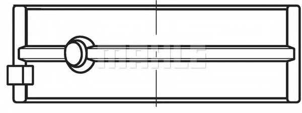 Подшипник коленвала MAHLE ORIGINAL 007 HS 18019 030 - изображение