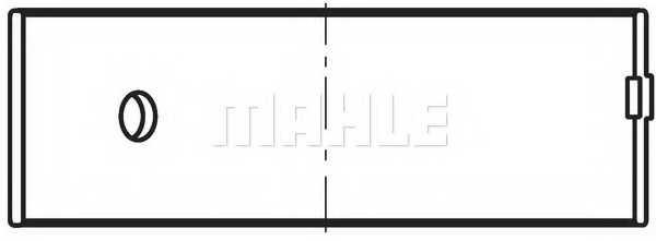 Шатунный подшипник MAHLE ORIGINAL 011 PS 19563 050 - изображение
