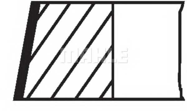 Комплект поршневых колец MAHLE ORIGINAL 01493N0 - изображение 1