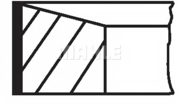 Комплект поршневых колец MAHLE ORIGINAL 01493N0 - изображение