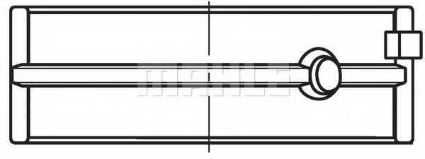 Подшипник коленвала MAHLE ORIGINAL 029 HS 18071 000 - изображение