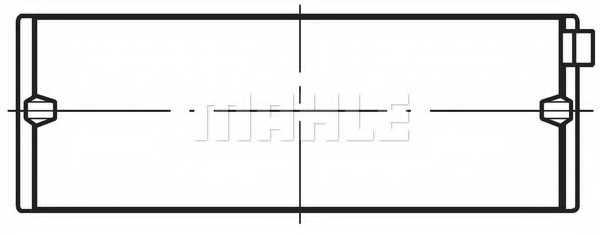 Подшипник коленвала MAHLE ORIGINAL 029 HS 19761 025 - изображение 1