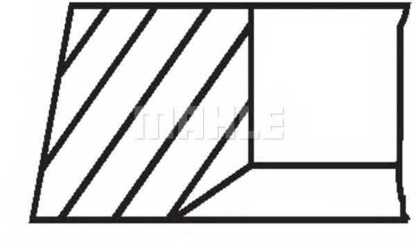 Комплект поршневых колец MAHLE ORIGINAL 030 55 N0 - изображение 1