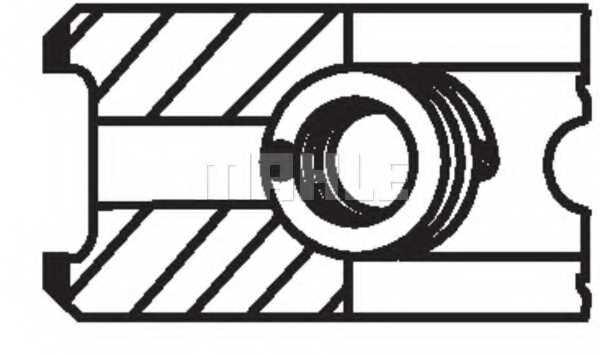Комплект поршневых колец MAHLE ORIGINAL 030 55 N0 - изображение 2