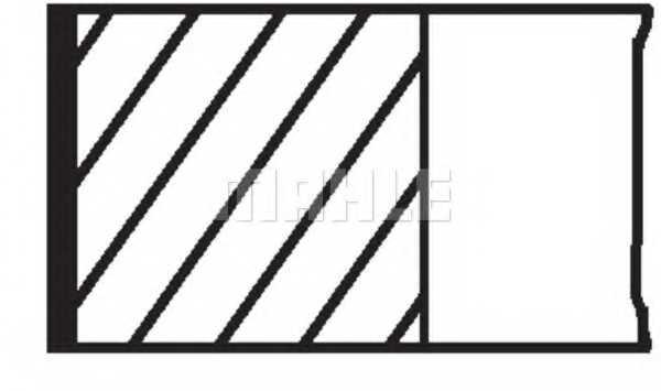 Комплект поршневых колец MAHLE ORIGINAL 030 55 N0 - изображение