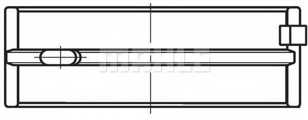 Подшипник коленвала MAHLE ORIGINAL 037 HL 21040 000 - изображение 1