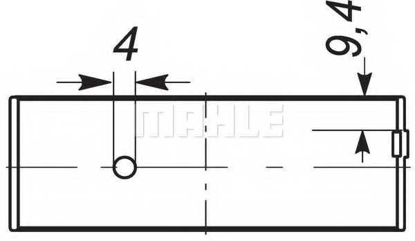 Шатунный подшипник MAHLE ORIGINAL 037 PS 18049 200 - изображение