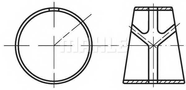 Втулка шатунного подшипника MAHLE ORIGINAL 061 BS 18075 300 - изображение