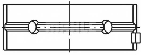 Подшипник коленвала MAHLE ORIGINAL 081 HS 19400 000 - изображение 1