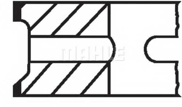 Комплект поршневых колец MAHLE ORIGINAL 205 03 N0 - изображение 1