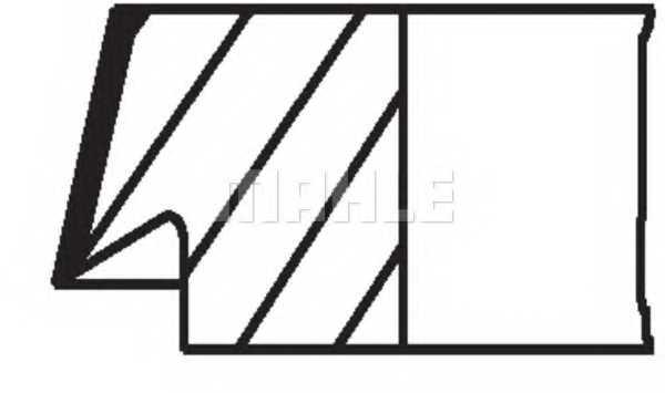 Комплект поршневых колец MAHLE ORIGINAL 205 03 N0 - изображение