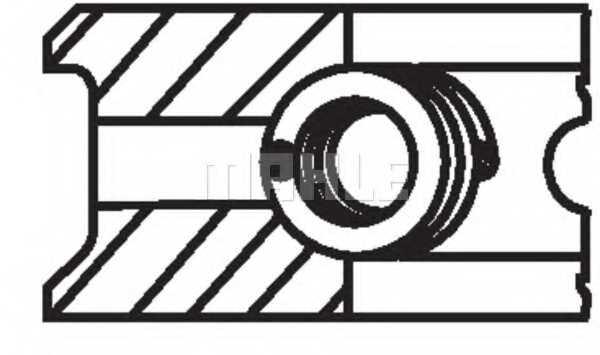 Комплект поршневых колец MAHLE ORIGINAL 205 22 V0 - изображение 1