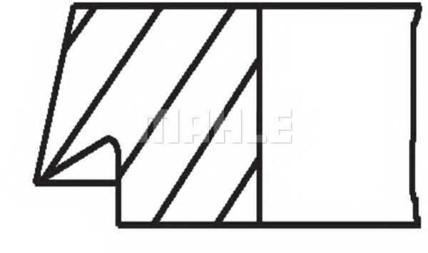 Комплект поршневых колец MAHLE ORIGINAL 205 22 V0 - изображение