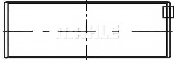 Подшипник коленвала MAHLE ORIGINAL 213 HS 18657 000 - изображение 1