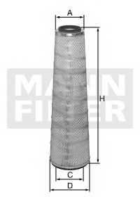 Фильтр воздушный MANN-FILTER C 28 028 - изображение