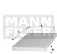 Фильтр салонный MANN-FILTER CUK 2622 - изображение