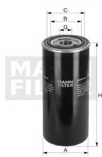 Фильтр масляный MANN-FILTER W1374/7 - изображение