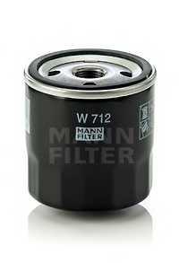 Фильтр масляный MANN-FILTER W 712 - изображение