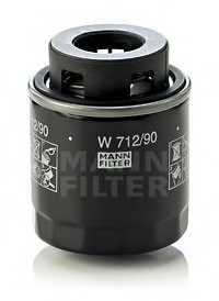 Фильтр масляный MANN-FILTER W 712/90 - изображение