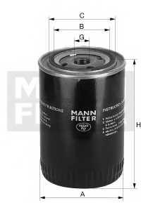 Фильтр масляный MANN-FILTER W 8018 - изображение