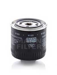 Фильтр масляный MANN-FILTER W 920 - изображение