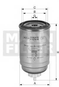 Фильтр топливный MANN-FILTER WDK724/5 - изображение