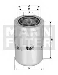 Фильтр масляный MANN-FILTER WH 980/3 - изображение