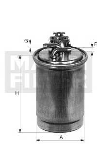 Фильтр топливный MANN-FILTER WK7002 - изображение