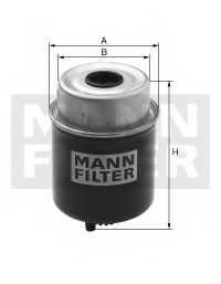 Фильтр топливный MANN-FILTER WK814/1 - изображение
