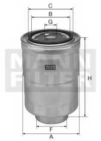 Фильтр топливный MANN-FILTER WK 828 x - изображение