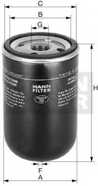 Фильтр топливный MANN-FILTER WK 9165 x - изображение