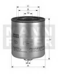 Фильтр топливный MANN-FILTER WK 940/6 x - изображение
