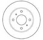 Тормозной диск MAPCO 15514 - изображение