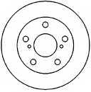 Тормозной диск MAPCO 25554 - изображение