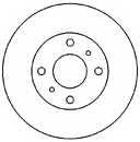 Тормозной диск MAPCO 45515 - изображение