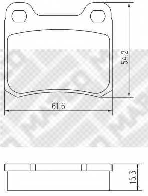 Колодки тормозные дисковые задний для MERCEDES (W124), 190(W201), C(W202), COUPE(C124), E(C124,W124) <b>MAPCO 6704</b> - изображение
