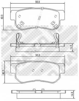 Колодки тормозные дисковые MAPCO 6736 - изображение